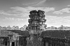Ruined Watchtower At Angkor Wat ('SandFlash) Tags: angkor wat angkorwat cambodia siemreap ruins temple unesco watchtower bw southeastasia monument khmer tourism natgeotravel