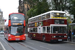 Lothian City Sightseeing 226 SJ16CSY & 777 C777SFS (Will Swain) Tags: edinburgh 24th september 2016 bus buses transport travel uk britain vehicle vehicles county country scotland scottish north northern central city centre lothian 777 c777sfs preserved heritage sightseeing 226 sj16csy
