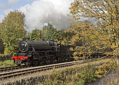 45212 Haworth Loop 23-10-16 (prof@worthvalley) Tags: all types transport uk steam locomotive railway railroad kwvr keighley worth valley 45212 black 5