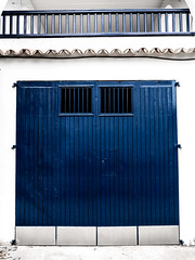 BLUE door (CWhatPhotos) Tags: cwhatphotos blue door camera photographs photograph pics pictures pic picture image images foto fotos photography artistic that have which contain with olympus four thirds 43 spanish spain mallorca majorca island october 2016 weather alcudia wall abstract windows square color colors colour colours view lines straight line vertical horizontal shutter shutters building buildings architecture colorful colourful shapes