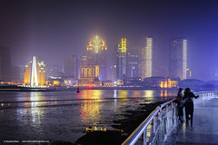 Shanghai Pudong China (Shahid A Khan) Tags: architecture asia huangpuriver landmark light metropolitan nature places pudong tourism tourist travel buildings china cityscape commercial illuminated lightning modern night reflection shanghai skyline skyscrappers square tower sakhanphotography shahidakhan nikon d750