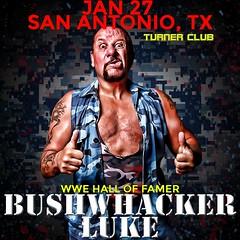 Bushwhacker Luke (River City Wrestling) Tags: wwe tna wwf roh texas nwa wcw lucha ecw san antonio rcw river city wrestling