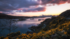 Last light... (Einir Wyn) Tags: landscape scotland scottishhighlands scenery uk sunset loch kyleoflochalsh beautiful port ships harbour colour color outdoor heather winter love lakes light tree clouds explore