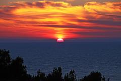 Pula sunset (Vid Pogacnik) Tags: croatia hrvatska istria istra outdoor landscape sunset sea coast pula sky seaside shore cloud water
