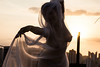 Pagan Poetry (BBarros) Tags: artnude halfnude fabric girl rooftop dance movement sunset