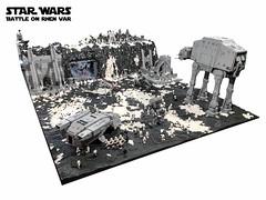 Star Wars - Battle on Rhen Var (Battlefront I&2) (markus19840420) Tags: starwars battlefront rhenvar lego moc diorama atat atst xwing ywing snowspeeder dx9 hangar snow imperiumdersteine rebels empire stormtrooper