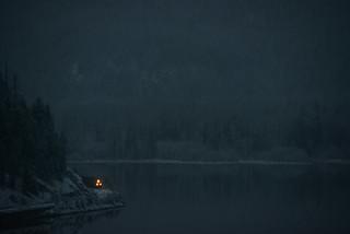 November Night at Moyie Lake