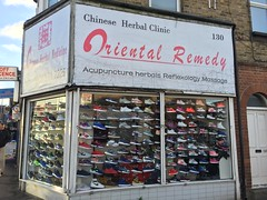 Oriental Medicine or Shoe Shop? (eyair) Tags: ashmashashmash uk london england walthamstow