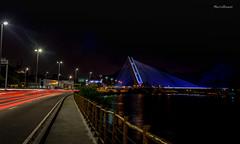 Ponte Estaiada da Barra da Tijuca - Rio de Janeiro (mariohowat) Tags: barradatijuca ponteestaiada ponteestaiadadabarra longaexposição noturnas arquitetura riodejaneiro brasil brazil