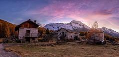 The Hamlet (Perez Alonso Photography) Tags: frenchalps france hamlet mountains snow autumn house high sunset sunrise dawn lemonal landscapes
