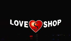The Love Shop (SaraOntario) Tags: love shop night plaza newmarket ontario text sign black background