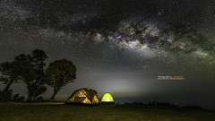 The milky way in front of a tent. (Alongkot.S) Tags: arcs astronomic astronomy astrophotography camp car celestial circle dark evening exploring exposure field harmony horizontal landscape lines long meadow milky motion nature night nobody north peace plants rotation science serene serenity silhouette sky space star starry telescope tent trails tranquil tranquility twilight unique universe water way