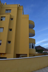 yellow (curly_em) Tags: loscristianos canaryislands tenerife bluesky appartments building yellow blue