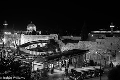 DSCF9693 (Joshua Williams' Photography) Tags: jerusalem israel bw night oldcity