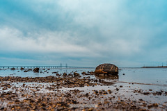 DSC00193 (grahedphotography) Tags: resundsbron resund oresund sweden swe denmark a7ii a7mk2 nature natur water ocean hav bridge beach blackandwhite grey malm limhamn