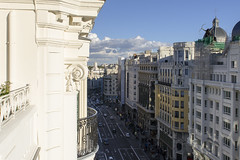 Gran Via from Above (rschnaible) Tags: spain madrid espana europe building architecture outdoors old historic history gran via street photography