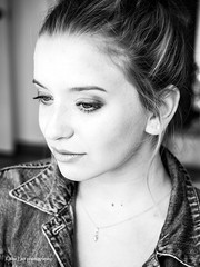 Zoned in/out (Kalev Lait photography) Tags: portait bw bnw blackandwhite people woman girl monochrome monotone makeup beautiful