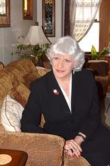 A Serious Word From Laurette (Laurette Victoria) Tags: woman suit silver laurette pearls