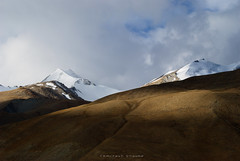 T w i n s (_Amritash_) Tags: himalayas himalayanlandscape landscapes ladakh pangongrange travel travelindia travelinindianhimalayas mountains mountainscape mountainpeak snowcappedmountains snowcappedpeaks light morning clouds