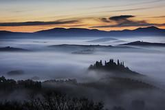 Val D'Orcia (Claudez) Tags: valdorcia siena tuscany color italy canon eos claudez fog sky landscapes