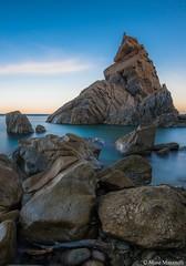 Scoglio della Pizzuta (Mose77) Tags: sunrise long exposure nikon sun sea beach stone rocks seascape landscape parghelia tropea italia calabria iphoneography nisi nisifilter nisifilteritalia filter
