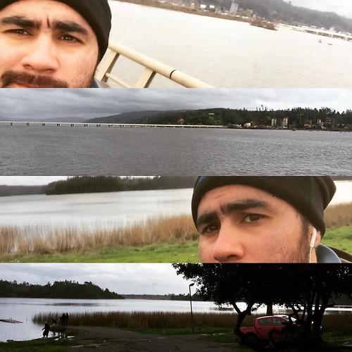 Y sólo comencé a seguir la #ciclovía de #Concepcion  😊😊😊 Que genial esta el día! Y q genial poder transitar por todos estos paisajes con sólo una bicicleta 🐻✌️ Otra foto en tu honor amigo mío 😊 #BioBio #LagunaGrande #SanPedro