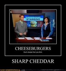 SHARP CHEDDAR (Chikkenburger) Tags: posters memes demotivational cheezburger workharder memebase verydemotivational notsmarter chikkenburger