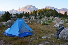 Teaser for Donna (NaturalLight) Tags: tent backpacking backpack wyoming wilderness mariposa bridger windriverrange sierradesigns windrivers bridgerwilderness bearcan gossamergear clipflashlight mtsacajawea