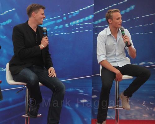 Jake Humphrey interviews Mark Webber at the 2015 British Grand Prix