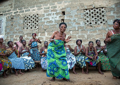 Benin, West Africa, Bopa, women dancing during a traditional voodoo ceremony (Eric Lafforgue) Tags: africa people color festival horizontal female religious outdoors togetherness dance community women worship colorful sitting dancing spirit african traditional religion fulllength performance ceremony dancer womenonly event textile westafrica ritual benin spirituality tradition cloth spiritual groupofpeople cultures priestess voodoo trance inarow ceremonial vodoun voodou voudou realpeople bopa vodou colourimage africanethnicity vodon vudun benin4964 alidalatham