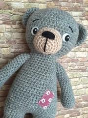 Klecks (Lenekie) Tags: animal toy treasure teddy amigurumi lilleliis