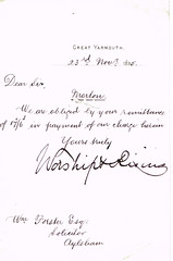2nd Letter to William Forster, Solicitor re Emily & Ann Morton deceased and sisters, Caister, Norfolk 1895 (North West Kent Family History Society) Tags: sisters born norfolk daughters letter circa died 1825 aylsham charges rector dated thrigby 1826 1829 1832 solicitor emilymorton affidavits marymorton annmorton williamforster mariamorton ecbdcollection 21stnovember1895 caistornextyarmouth 6thmay1895 8thmay1895 reverendjohnmorton missesmorton septimamorton