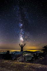 Waiting for a star to fall (Vagelis Pikoulas) Tags: milky milkyway way stars star space universe galaxy night nightscape longexposure landscape view canon 6d tokina 1628mm kithairwnas kithaironas mountains mountain mount autumn 2016 selfshot selfie rock man vilia greece europe