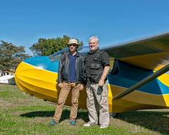 Gp. Capt. Willy Hacket, RAF  & Bob Dierker - VSA 2 (massey_aero) Tags: vintagesailplaneassoc sailplane glider vsarally masseyaerodrome masseyairmuseum schweizer222glider