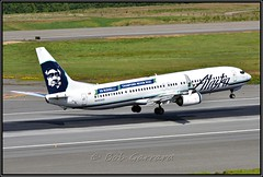 "N453AS Alaska Airlines ""Go Russell"" (Bob Garrard) Tags: n453as alaska airlines gorussell boeing 737 anc panc"