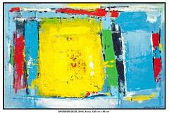GROSSES GELB (CHRISTIAN DAMERIUS - KUNSTGALERIE HAMBURG) Tags: moderne norddeutsche malerei landschaftsmalerei werke bilderwerk hamburg wer malt bilder acryl kunstgalerie auftragsmalerei auftragskunst acrylmalerei hafencity bildergalerie galerie container schiffe elbe hafen rapsfelder schleswigholstein