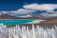 Penitentes and the Laguna Verde - Paso San Francisco (Captures.ch) Tags: 2016 argentina black blue brown clouds desert gray hills ice lagoon laguna lagunaverde landscape mountains nature october orange pasosanfrancisco penitentes perfect red road sky snow southamerica stones travel verde white wind yellow
