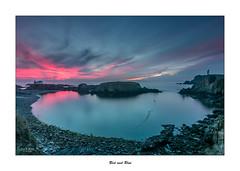 Red and Blue... (Canconio59) Tags: largasexposiciones meiras valdovio galicia ferrol corua espaa spain faro ermita lighthouse costa coast sunset atardecer
