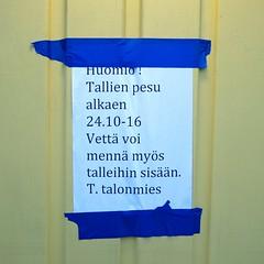 Tallien pesu (neppanen) Tags: sampen discounterintelligence helsinki helsinginkilometritehdas suomi finland piv76 reitti76 pivno76 reittino76 autotalli savela talonmies