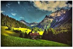 Kleinwalsertal (almresi1) Tags: kleinwalsertal vorarlberg austria alpen tal berge mountains htte wiese wald hgel
