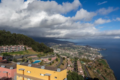 Dark Skies Ahead (Aymeric Gouin) Tags: portugal madre madeira funchal cabogirao sea mer ocean atlantic atlantique sky ciel cloud nuage europe island city ville colorful color light lumire olympus omd em10 aymgo aymericgouin