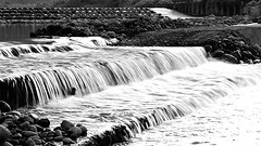 FlowTaichung, Taiwan  (rightway20150101) Tags:  flow taichung taiwan creek   water bw  monochrome