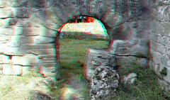 Roman Baths Fiesole 3D (wim hoppenbrouwers) Tags: anaglyph stereo redcyan roman baths fiesole 3d arch gate poort