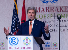 John Kerry (cementley) Tags: cop22 marrakech morocco marrakesh unfccc unitednations climatechange november 2016 johnkerry secretaryofstate speeches politicians pressconferences photojournalism