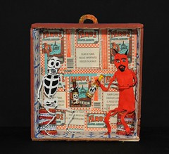 Devil and Skeleton Box Nicho Mexico (Teyacapan) Tags: skeleton diablo devils cerveza beer drinking box caja nicho oaxaca mexican folkart