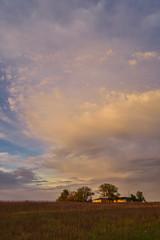 Same Night Sunset (thefisch1) Tags: sunset very colorful cloud pattern intense awesome tree sky kansas flint hills oogle calendar nikon horizon verrigated pink silhouette