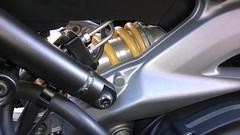 Yamaha MT09 - Ohlins Shock absorber (MotoTracer.com) Tags: ohlins yamaha mt09 ya 046 shock abosrber compression bumper
