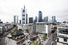 Frankfurt view (greytoneduo) Tags: frankfurt city cityscape wide angle