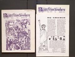 """News From Nowhere,"" 1970 (Regional History Center & NIU Archives) Tags: boycott demonstration protest niu northernillinoisuniversity students newspaper activism"