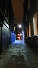 There is a Light (Jamie Barras) Tags: london england uk 2016 october street alley alleyway streetlight lamp after dark deserted autumn chill